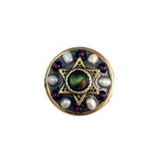 Garnet Pearl And Abalone Star Of David