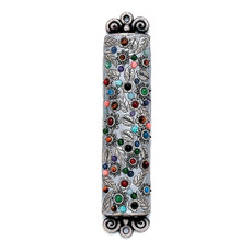 Flowers Mezuzah By Michal Golan