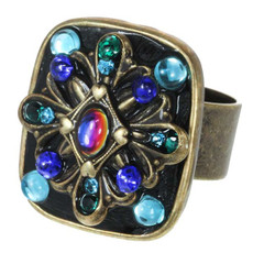 Michal Golan Adjustable Ring Peacock
