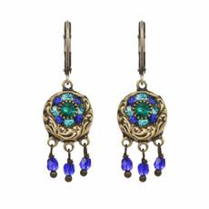 Lovely Michal Golan Peacock Earrings