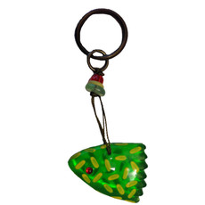 Green Ocean Fish Keyring By Orna Lalo