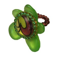 Orna Lalo Green Blossom Ring