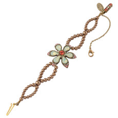 Negrin's Pretty in Pastel Crystal Flower Bracelet