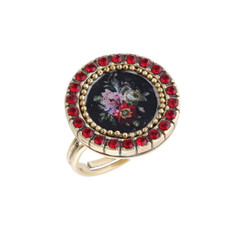Michal Negrin Red Rose Ring
