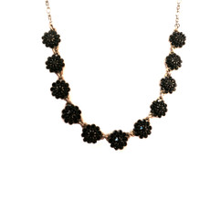 Negrin Classic Crystal Black Flower Necklace