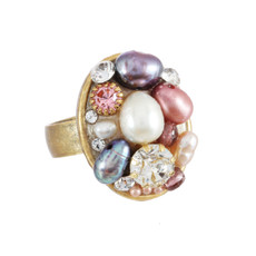 Michal Golan Jewelry Small Oval Pink Ring