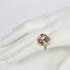 Michal Golan Jewelry Small Round Pink Ring - second image