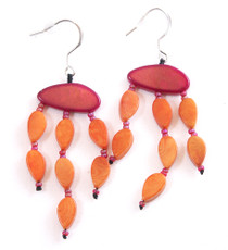 Encanto Jewelry Maky Orange Earrings
