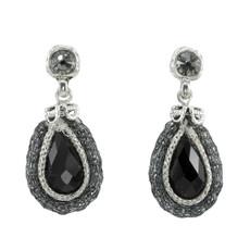 Anat Jewelry Black Joy Nouveau Glam Black Earrings