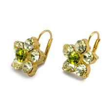 Anat Jewelry Green Flower Earrings
