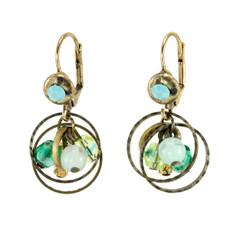 Anat Jewelry Encompass Green  Earrings