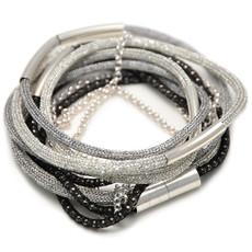 Black Grey Shabby Chic necklace bracelet  from Anat Jewelry