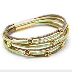 Anat Jewelry Green Crystal Shabby Chic Bracelet
