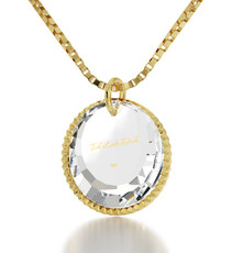 Clear German I Love You Circle necklace from Inspirational Jewelry