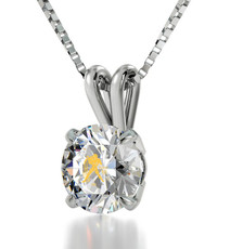 Aquarius Gold Inscribed Necklace from Silver Inscribed