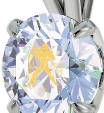 Inspirational Jewelry Aquarius Silver  Necklace