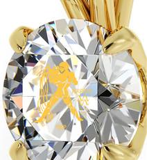 Nano Jewelry Clear Gold Aquarius Necklace