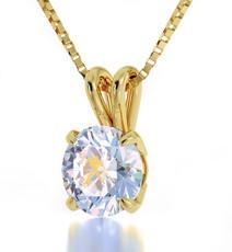 Aquarius Gold Inscribed Necklace - Opal