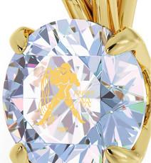 Inspirational Jewelry Gold Aquarius Opal Necklace