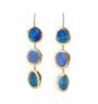 Long Bright Blue Opal Earrings by Nava Zahavi - New Arrival