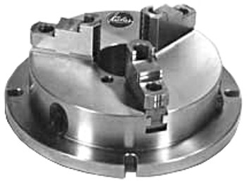 "Pratt Burnerd 10"" 3 Jaw Super Thin Low Profile Round Stationary Chuck Flange Mount NBK10"