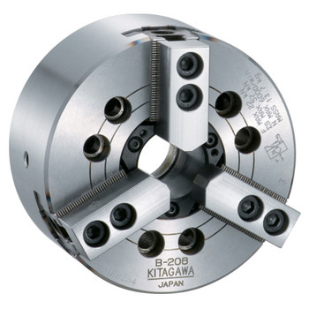 "Kitagawa 10"" 3 Jaw Large Thru Hole High Speed Hydraulic Power Chuck A2-8 Spindle Mount Adapter B210A8"