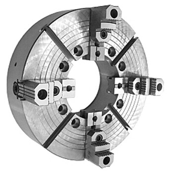 Bison 32 4 Jaw Independent Manual Lathe Chuck D1-11 Spindle Mount 7-857-3239F