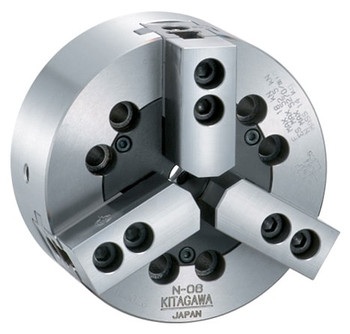"Kitagawa 10"" 3 Jaw Closed Center Power Chuck A2-6 Adapter N-10A06"