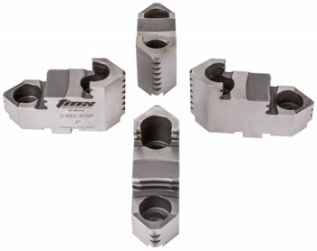 "TMX Hard Top Jaws for 12"" 4 Jaw Scroll Chuck, 4 Piece Set, 3-883-412P"