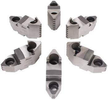 "TMX Hard Top Jaws for 20"" 6 Jaw Scroll Chuck, 6 Piece Set, 3-883-620P"