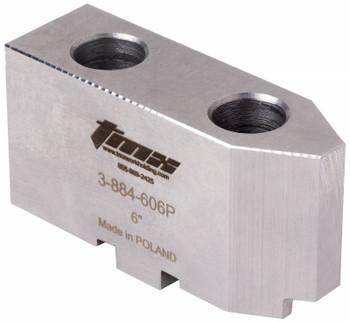 TMX Soft Top Jaw for 6 Scroll Chucks, 1pc, Pointed, 3-884-606P