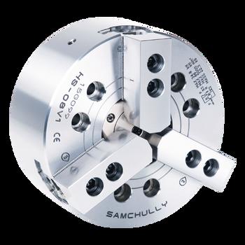 "Samchully 10"" 3 Jaw Open Center Power Chuck Plain Back Mount HS-10"