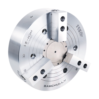 """Samchully 12"""" 3 Jaw Open Center Hydraulic Power Chuck A2-8 Spindle Mount Adaptor HCH-12A08"""