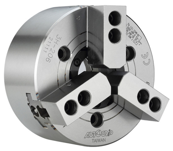 """AutoGrip 10"""" 3 Jaw Large Thru Hole High Speed Hydraulic Power Chuck A2-8 Spindle Mount Adapter 3H-10A8"""