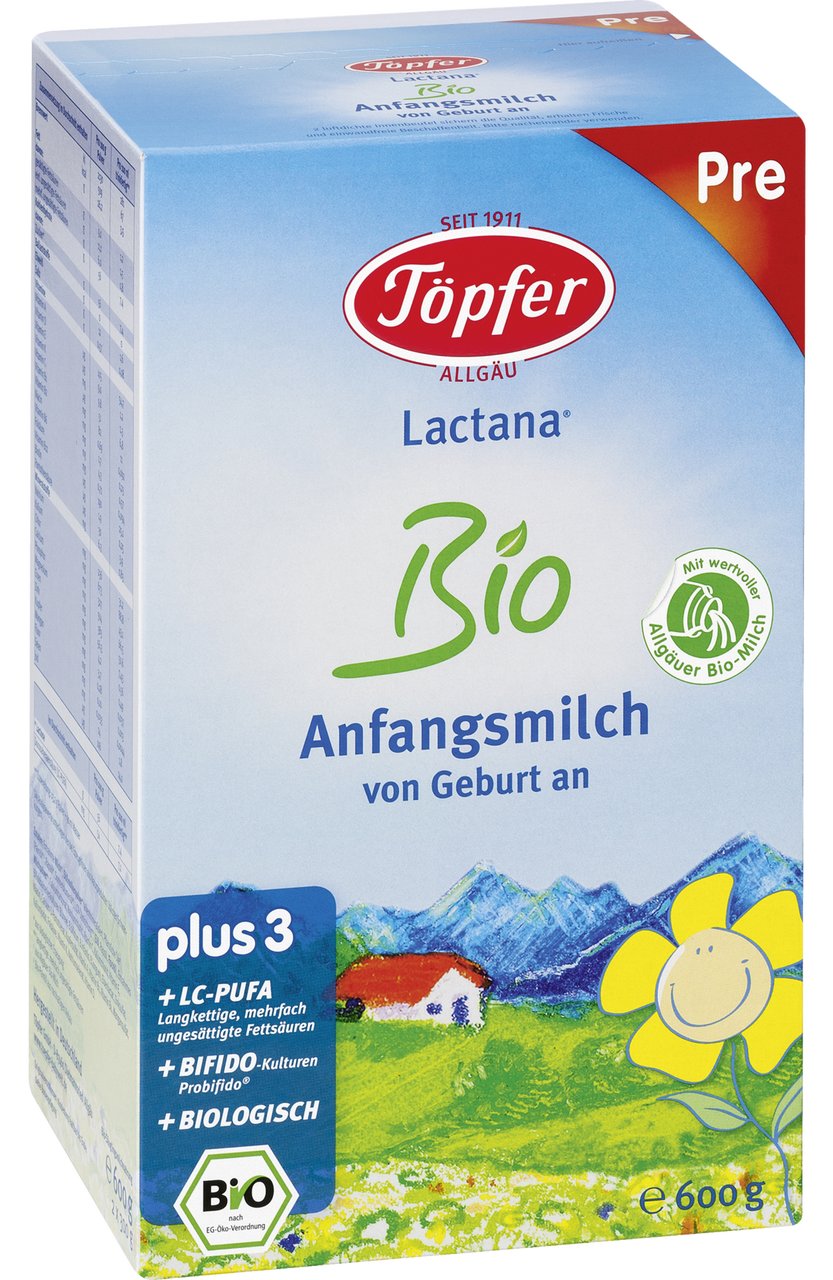 Topfer Stage Pre Lactana Organic First Infant Milk Baby