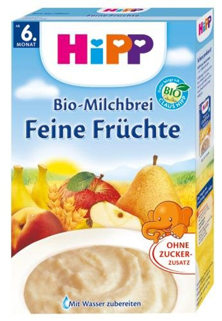 HiPP Fine Fruits Organic (Bio) Milk Porridge Cereal (500g)