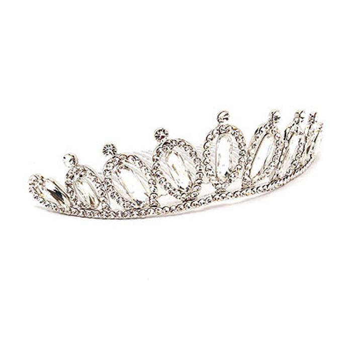 Bridal Wedding Jewelry Crystal Rhinestone Teardrop Link Hair Headband Comb Tiara