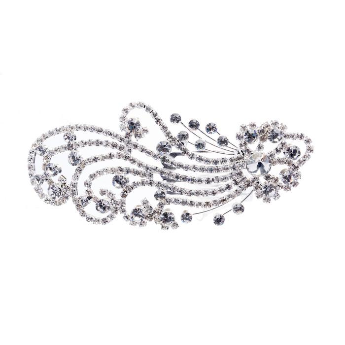Bridal Wedding Jewelry Crystal Rhinestone Beautiful Dazzle Wave Hair Comb Pin