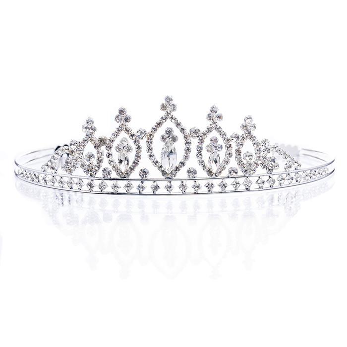 Bridal Wedding Jewelry Crystal Rhinestone Stunning Classic Hair Headband Tiara
