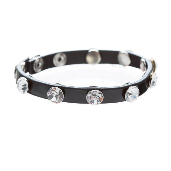 Simple Beautiful Stylish Crystal Rhinestone Studs Fashion Wrap Bracelet Black
