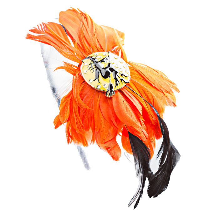 Chic Fashion Eye-Catching Charm Bright Colored Feather Hair Headband H482 Orange