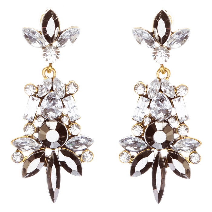 Striking Fashion Crystal Rhinestone Rare Elegant Dangle Earrings E827 Clear