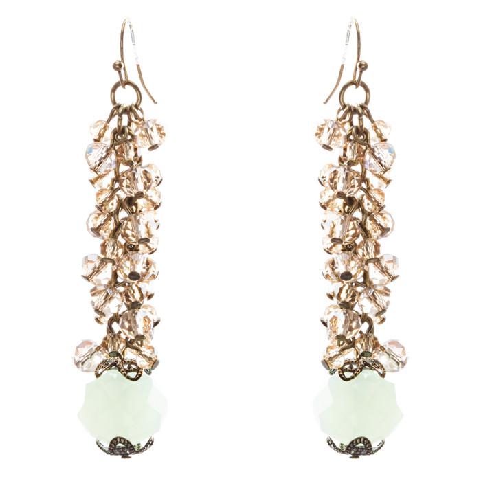Contemporary Fashion Sophisticated Linear Long Drop Dangle Earrings E838 Brown