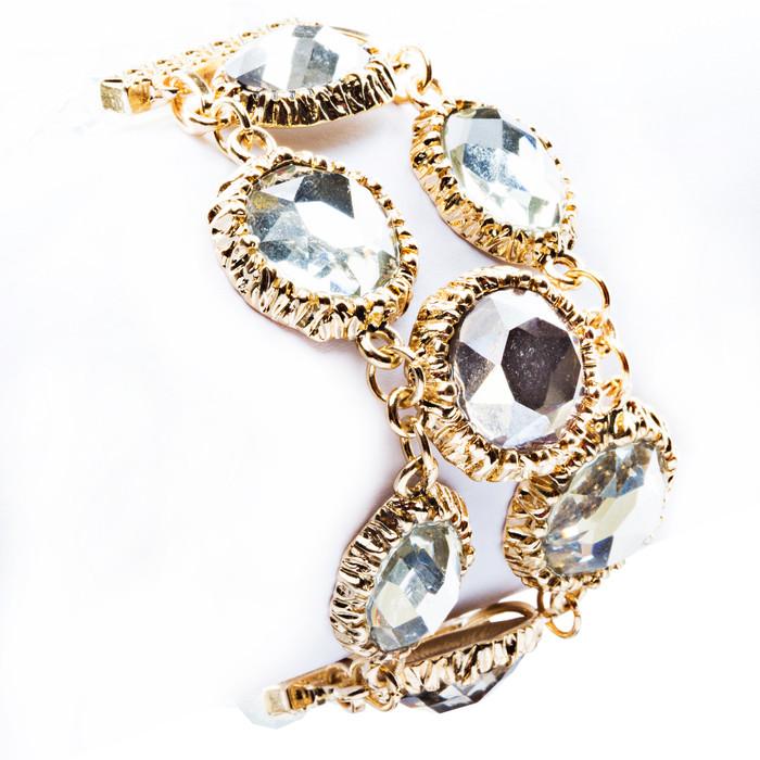 Modern Fashion Captivating Bright Color Design Statement Bracelet B485 White