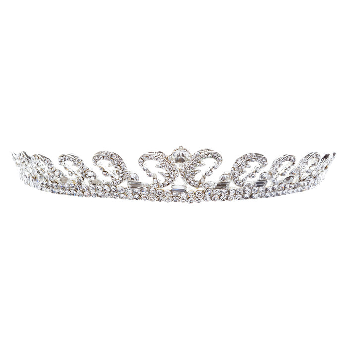 Bridal Wedding Jewelry Crystal Rhinestone Remarkable Crown Hair Tiara HA174Clear