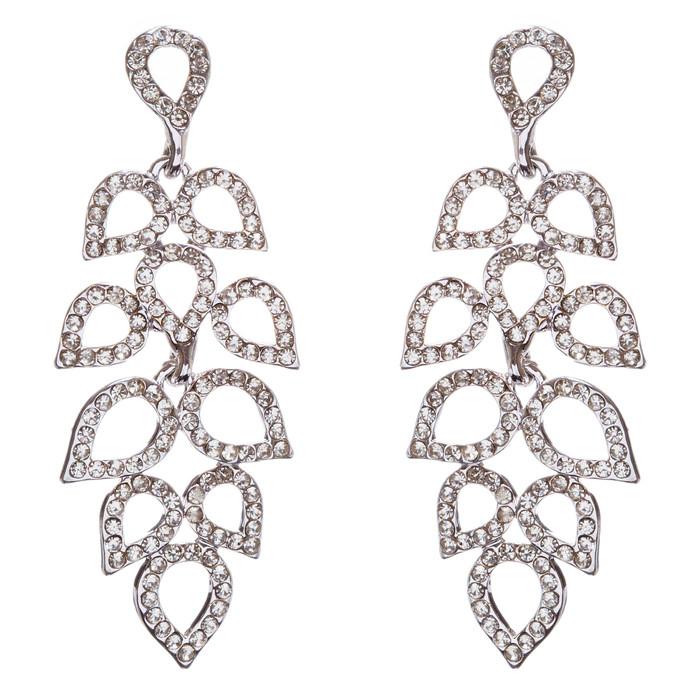 Bridal Wedding Jewelry Prom Crystal Rhinestone Dazzling Dangle Earrings E960 SV