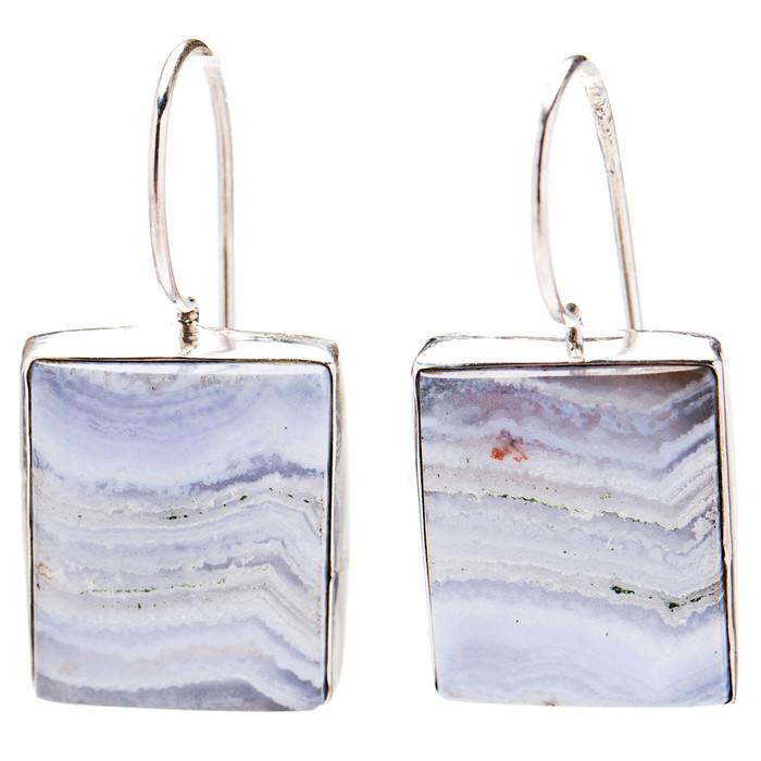 925 Sterling Silver Natural Gemstones Ocean Jasper Dangle Earrings FJSVE2101