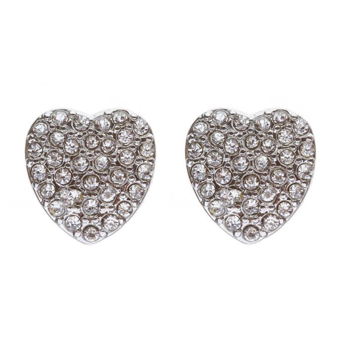 Gorgeous Sparkling Crystal Rhinestone Heart Charm Fashion Earrings E630 SV