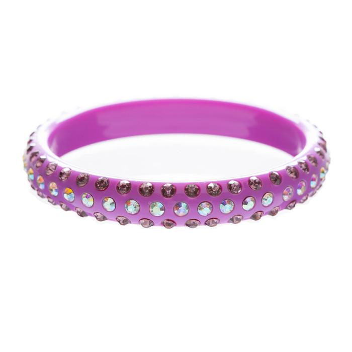 Beautiful Dazzle Crystal Rhinestone Simple Stylish Fashion Bangle Bracelet Pink