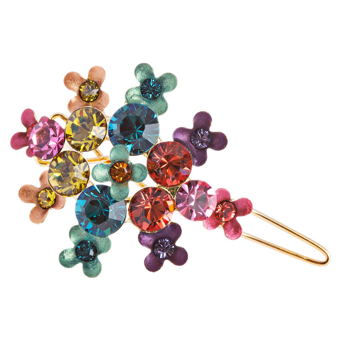 Austrian Crystal Hair Clip Jewelry Multi-Colored